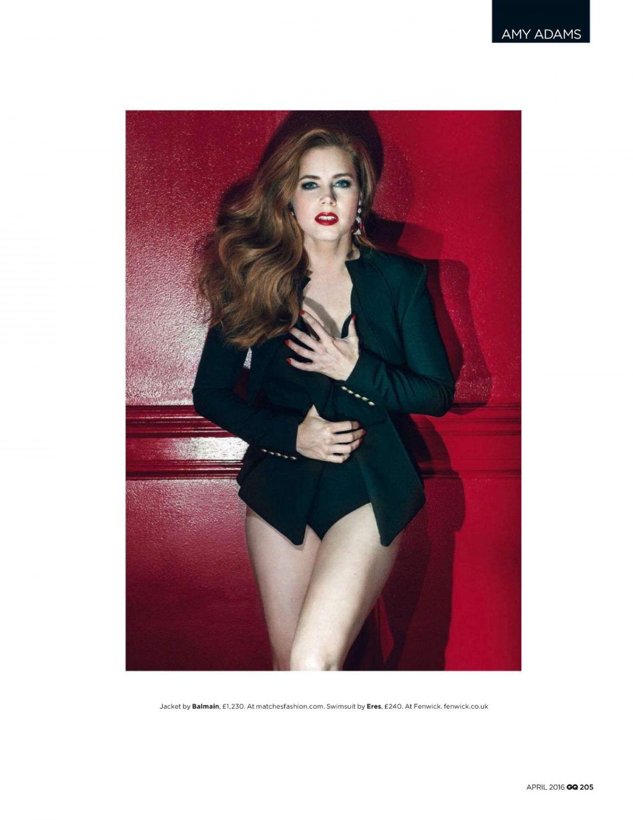 Amy Adams - GQ Magazine UK - April 2016 Issue