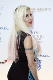 Angelique Frenchy Morgan – One Night for ONE DROP Blue Carpet in Las Vegas 3/18/2016