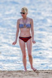 Anna Faris in Bikini at a Beach in Hawaii 3/27/2016