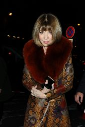 Anna Wintour Night Out Style - Paris, March 2016