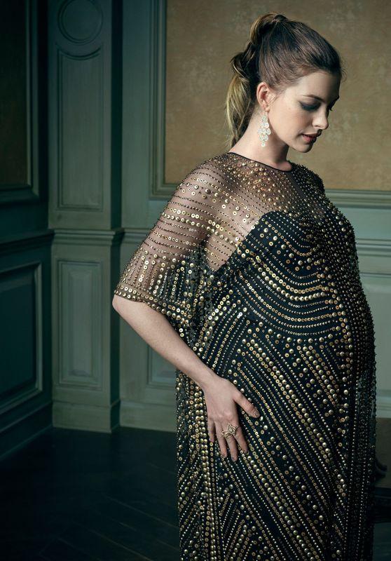 Anne Hathaway - 2016 Vanity Fair Oscar Party Portrait