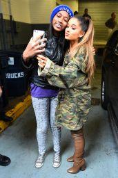 Ariana Grande - Greeting Fans Outside Z100 Studios in New York City, NY 3/15/2016