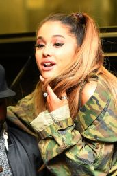 Ariana Grande - Greeting Fans Outside Z100 Studios in New York City, NY 3/15/2016