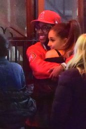 Ariana Grande Night Out Style - Leaving an SNL Cast Dinner in New York City, 03/08/2016