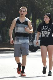 Ariel Winter - Hiking in Los Angeles, CA 3/2/2016