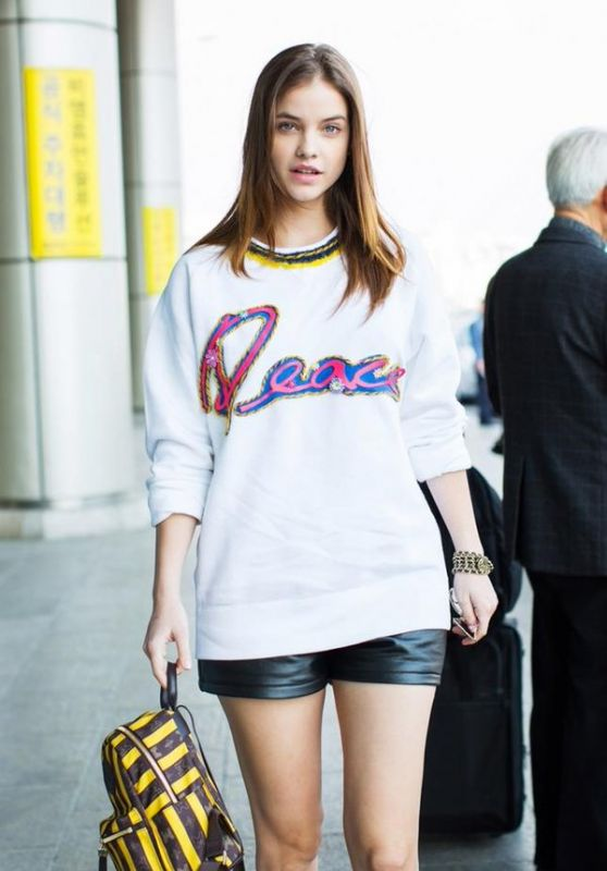 Barbara Palvin at Incheon International Airport in Seoul, 3/25/2016