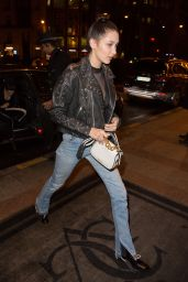 Bella Hadid Arrives at Hotel George V in Paris 3/9/2016