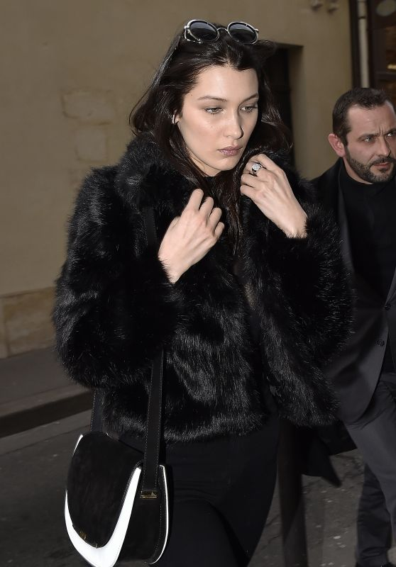 Bella Hadid - Leaving Her Hotel in Paris 3/5/2016