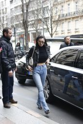 Bella Hadid Street Style - at Her Hotel in Paris 3/9/2016