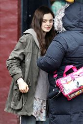 Bella Heathcote on the Set of