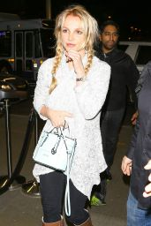 Britney Spears - LAX Airport in Los Angeles 3/14/2016