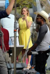 Brittany Snow - Films a Lipton Tea Commercial in Los Angeles 3/21/2016