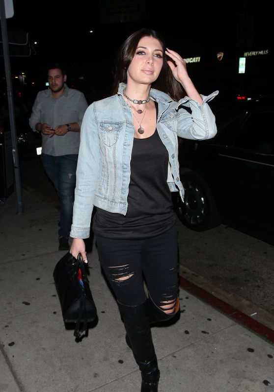 Brittny Gastineau Night Out Style - at the Nice Guy in West Hollywood 3/18/2016