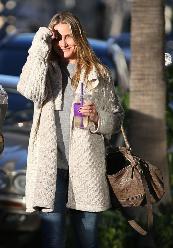 Cameron Diaz Tries to Shield Her Face From the Sun - Beverly Hills, March 2016