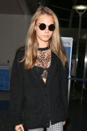 Cara Delevingne at LAX Airport, March 2016