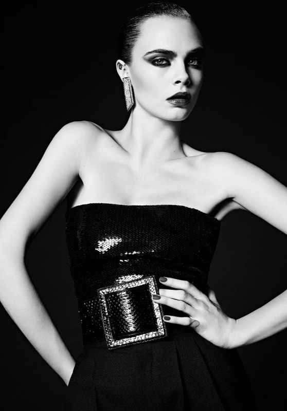Cara Delevingne - Photoshoot for Saint Laurent