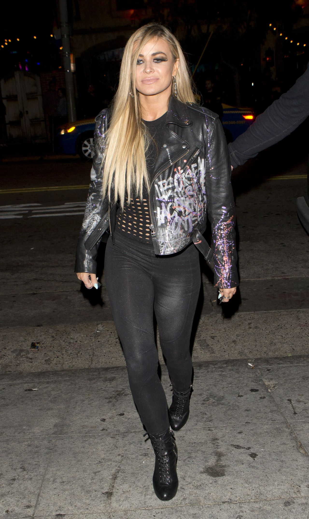 Carmen Electra Night Out Style The Abbey Bar In West