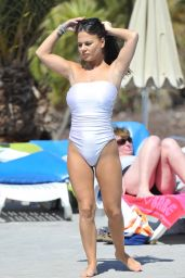 Chantelle Connelly in Swimsuit - Poolside in Tenerife, March 2016