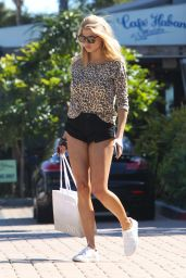 Charlotte McKinney Leggy in Shorts - Out in Malibu, 3/25/2016