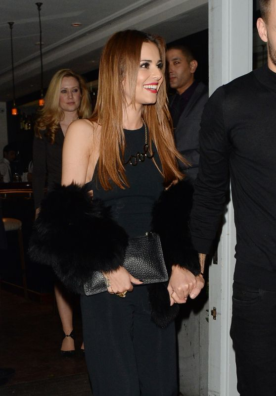 Cheryl Fernandez-Versini - Leaving Salmontini Restaurant in London 3/9/2016