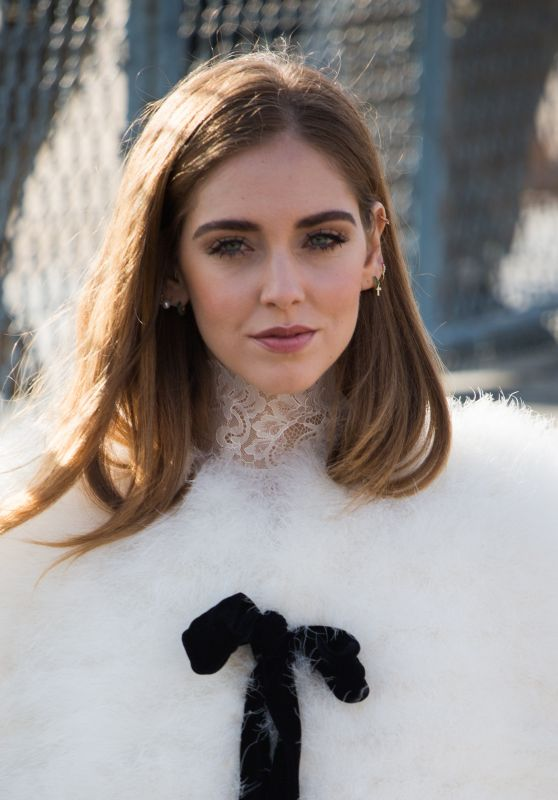 Chiara Ferragni Arriving at Elie Saab Fashion Show - Paris Fashion Week, March 2016