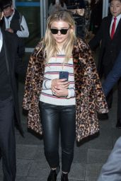Chloë Moretz Airport Style - Incheon Airport in Seoul 3/3/2016
