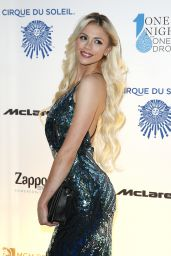 Chloe Crawford – One Night for ONE DROP Blue Carpet in Las Vegas 3/18/2016