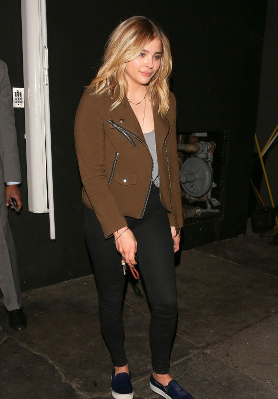 Chloe Moretz at The Nice Guy in West Hollywood 2/23/2016