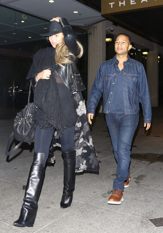 Chrissy Teigen and John Legend - Friday Night Movie Date at IPic Theaters in Los Angeles 3/11/2016
