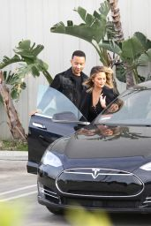 Chrissy Teigen - Leaving a Studio in Los Angeles, LA 3/28/2016