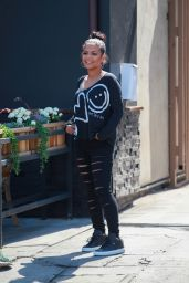 Christina Milian Casual Style - at Midori Sushi Restaurant in Studio City 3/18/2016