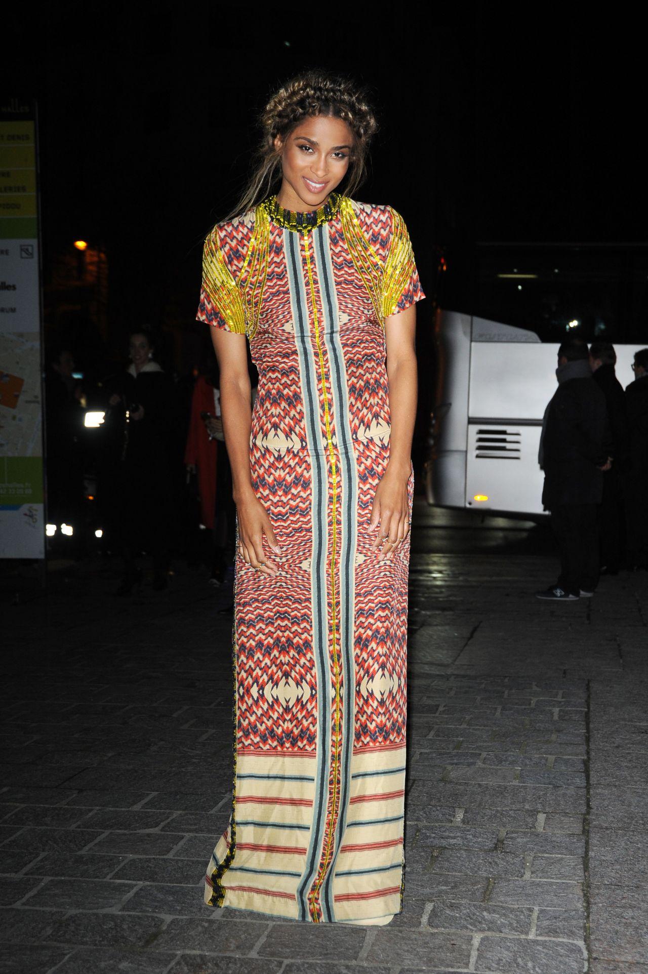 Ciara Arriving At H Amp M Fashion Show Paris Fashion Week