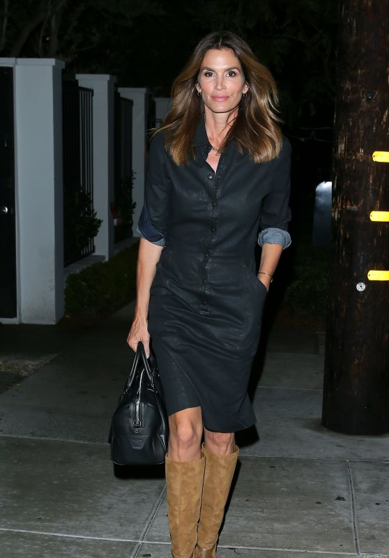 Cindy Crawford Night Out Style - at Craig