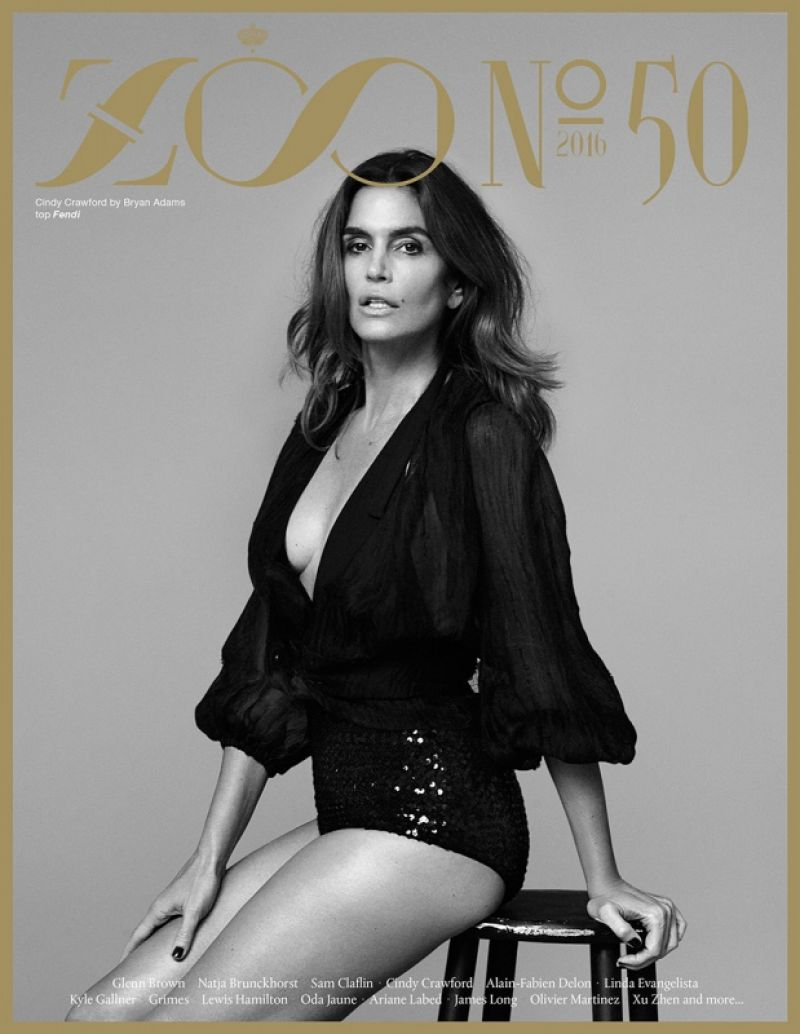 Cindy Crawford Zoo Magazine 50 Photoshoot