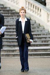 Clémence Poésy at Chloe Show - Paris Fashion Week Womenswear Fall/Winter 2016/2017