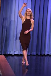 Claire Danes Appeared on Tonight Show With Jimmy Fallon in NYC 3/28/2016