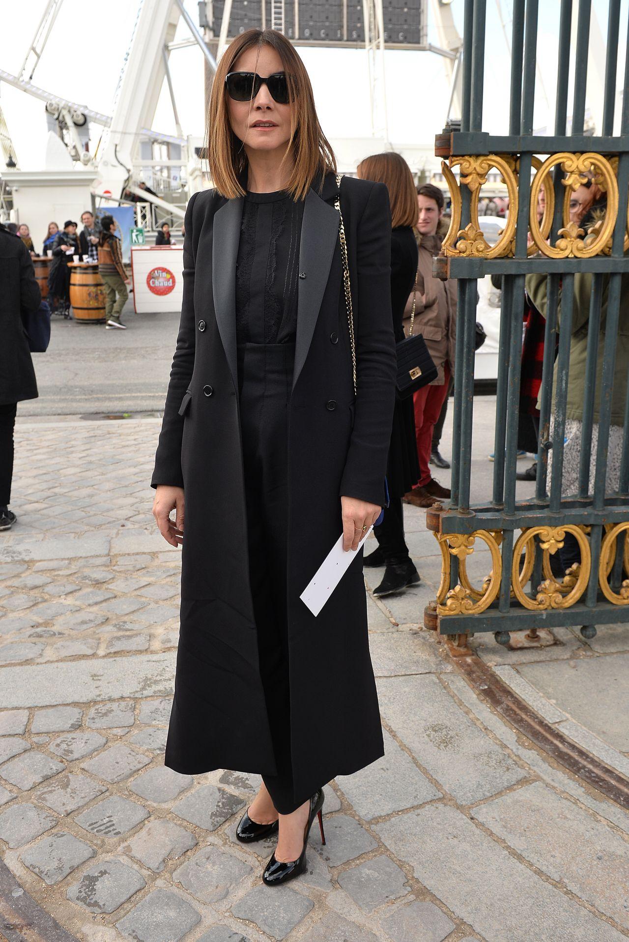 Clotilde Courau Arriving At Elie Saab Fashion Show Paris Fashion Week March 2016