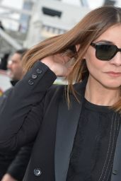 Clotilde Courau Arriving at Elie Saab Fashion Show – Paris Fashion Week, March 2016