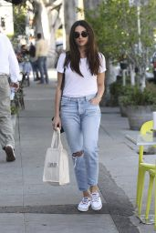 Crystal Reed Street Style - Shopping in Los Angeles 3/22/2016