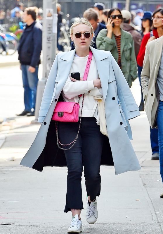 Dakota Fanning - Out in SoHo New York City 3/23/2016