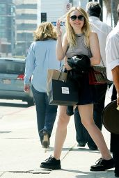 Dakota Fanning  Shows Off Her Legs in Mini Skirt - Out in Los Angeles, March 2016