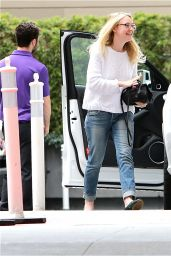 Dakota Fanning Stret Style - Out in Hollywood, CA 3/5/2016