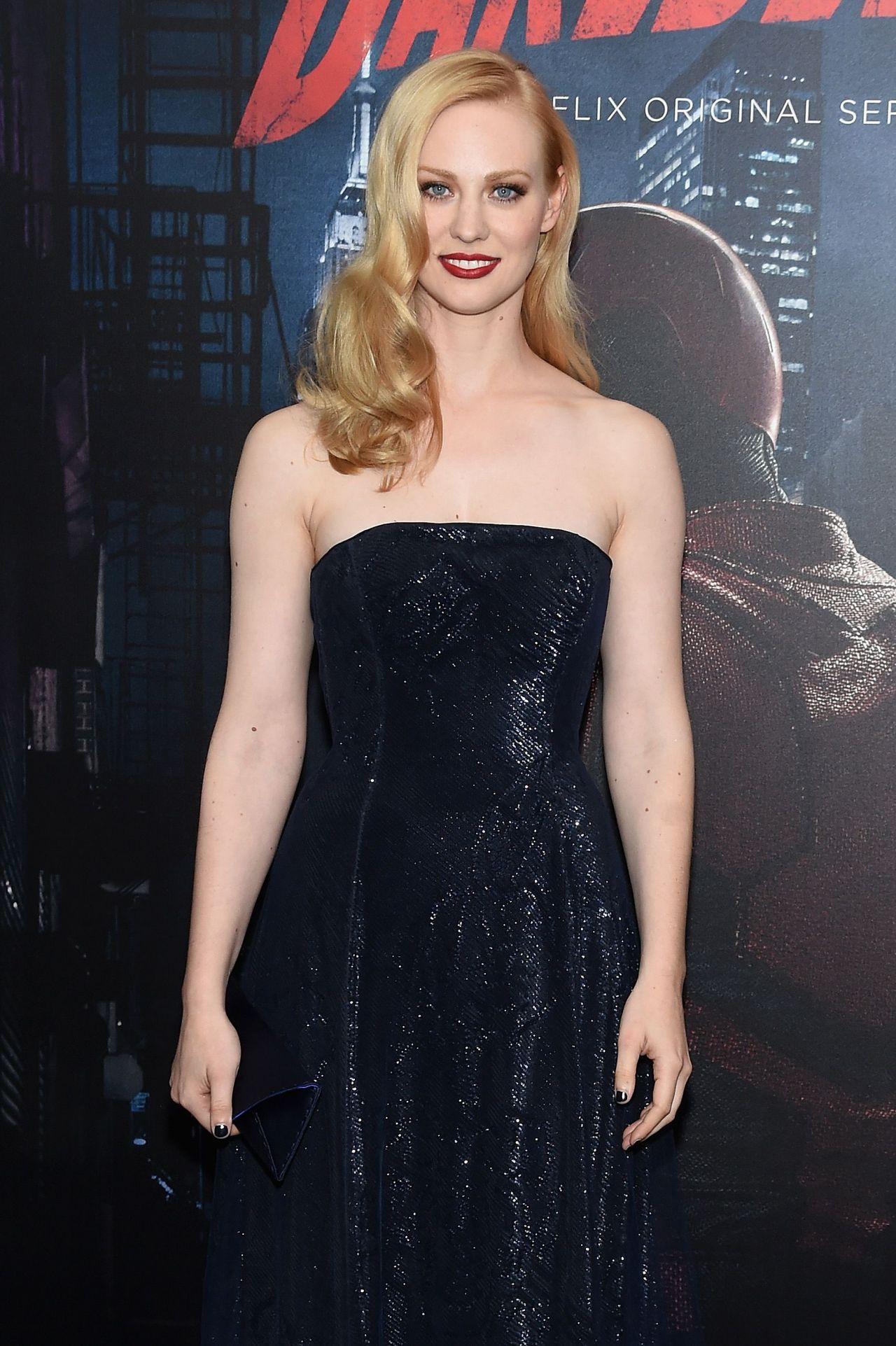 Deborah Ann Woll Daredevil Season 2 Premeire In New York