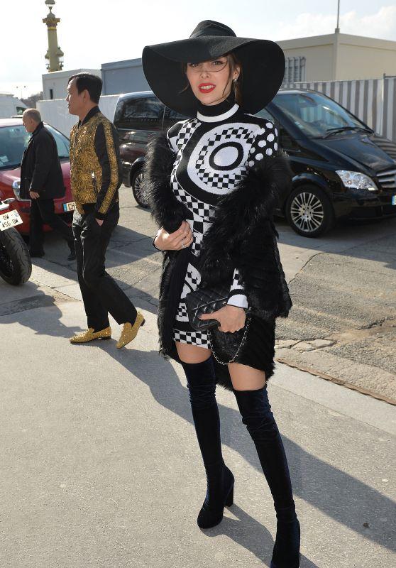 Deborah Hung Arriving at Elie Saab Fashion Show – Paris Fashion Week, March 2016