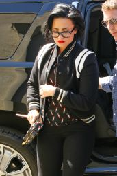 Demi Lovato in Her Signature Red Lip in Beverly Hills 3/16/2016