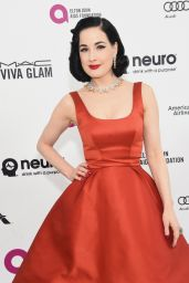 Dita Von Teese – 2016 Elton John Academy Awards Viewing Party