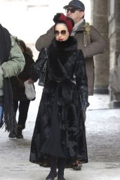 Dita Von Teese - Shopping at the Valentino Store in St Moritz 3/9/2016