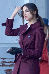 Eiza Gonzalez on the Set of
