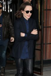 Ellen Page - Leaving Her Hotel in New York City 3/8/2016