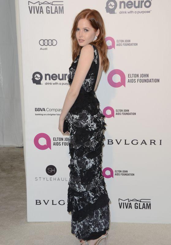 Ellie Bamber – 2016 Elton John Academy Awards Viewing Party